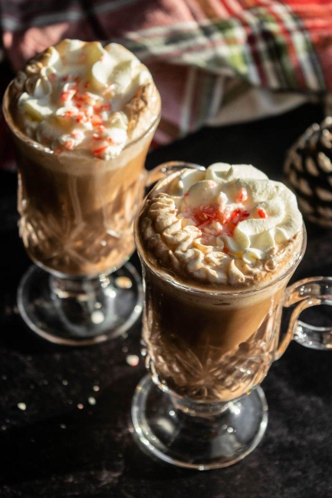 hot cocoa with creme de menthe