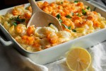 langostino lobster mac and cheese with brie