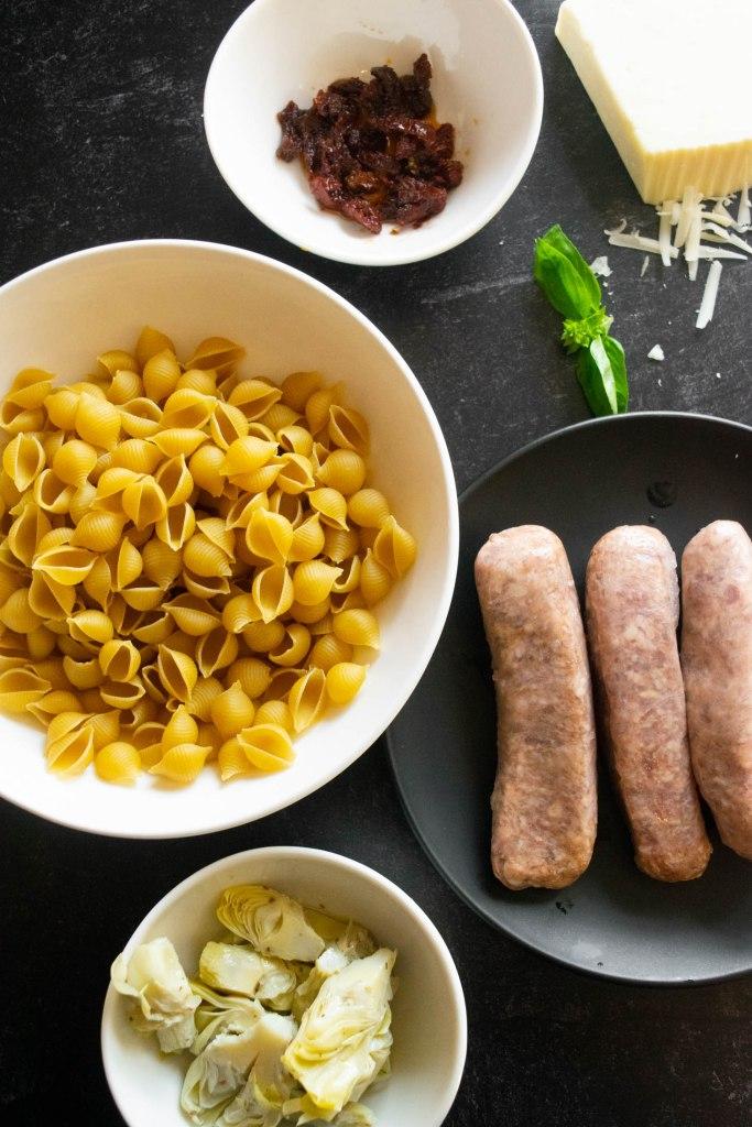 sausage pasta bake ingredients