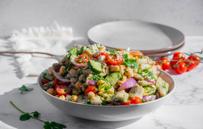Mediterranean White Bean Salad with Feta