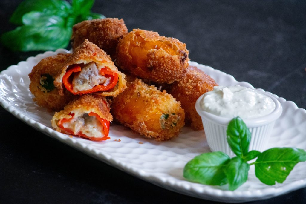 Sausage and Pepper Poppers