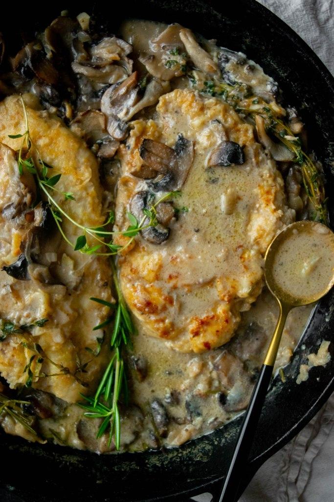 one pan maitake chicken