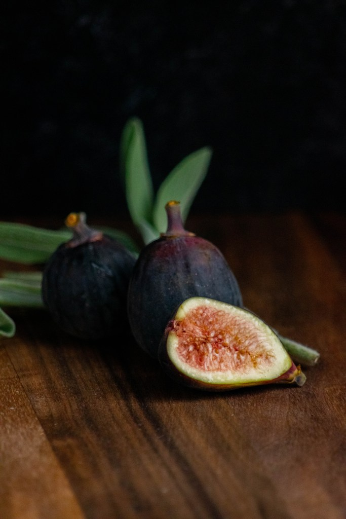 fresh figs and sage