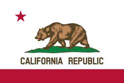 California state flag. Universities jobs.