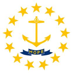 Rhode Island State flag. Universities jobs.