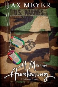 character names on dog tags with a Marine uniform in the background