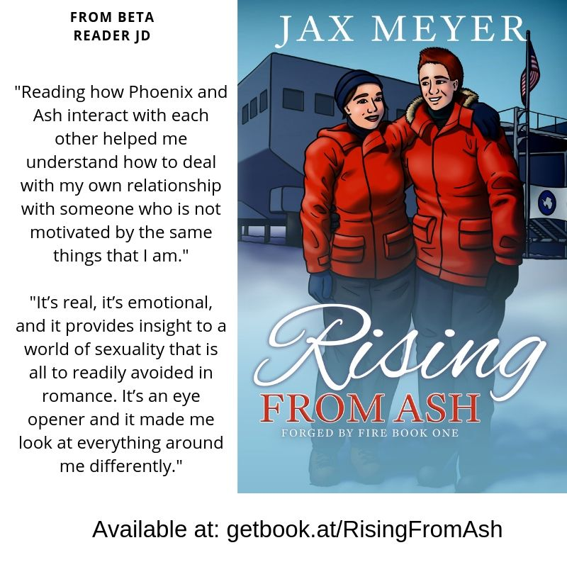 Rising from Ash at the lesfic book club 1