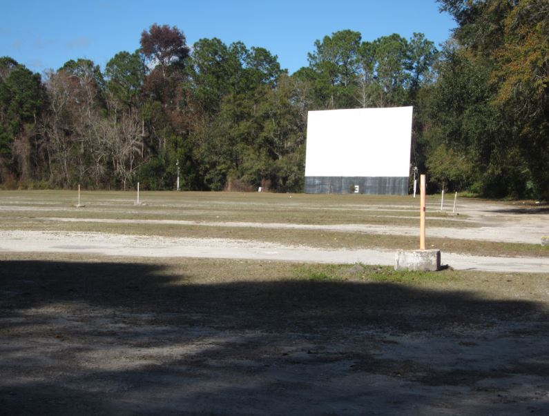 Playtime Drive In Movie Theater And Christ Church Anglican