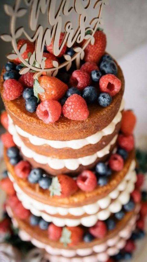 Naked Cake from the top view