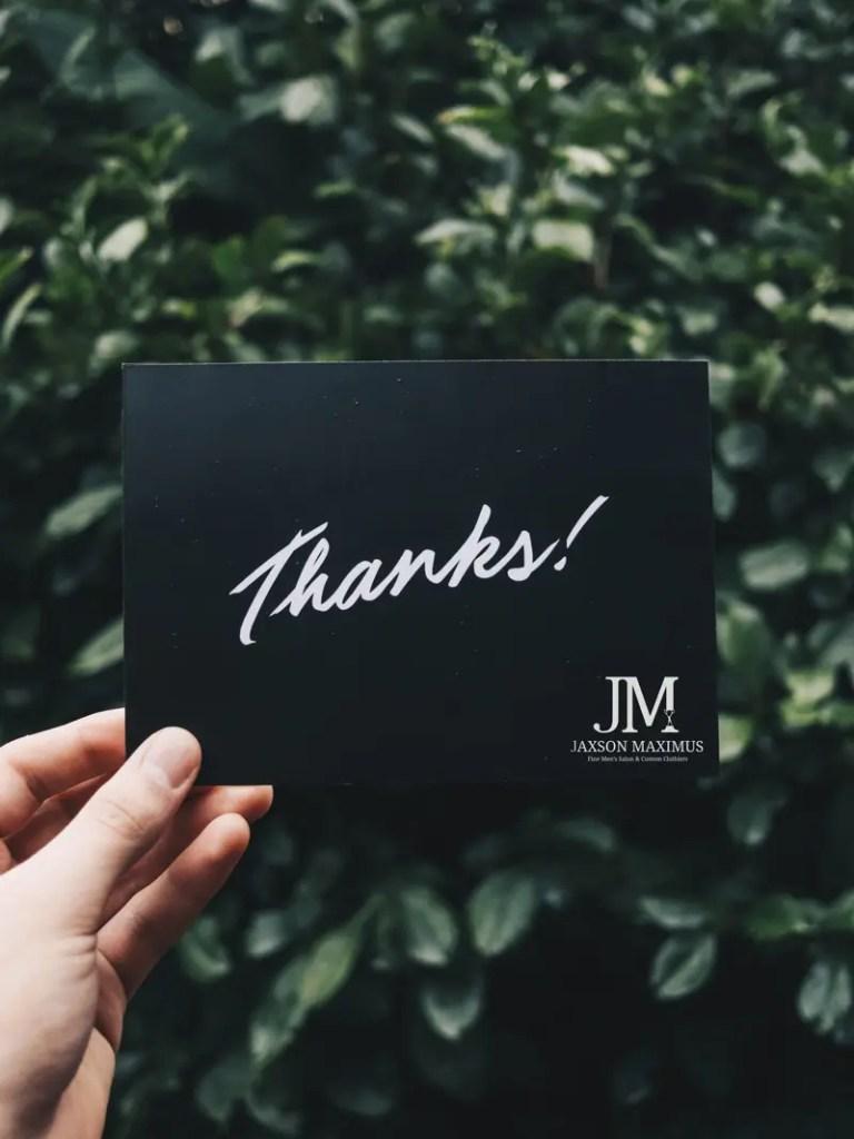 Thank You from Jaxson Maximus