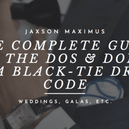the complete guide to the black tie dress code