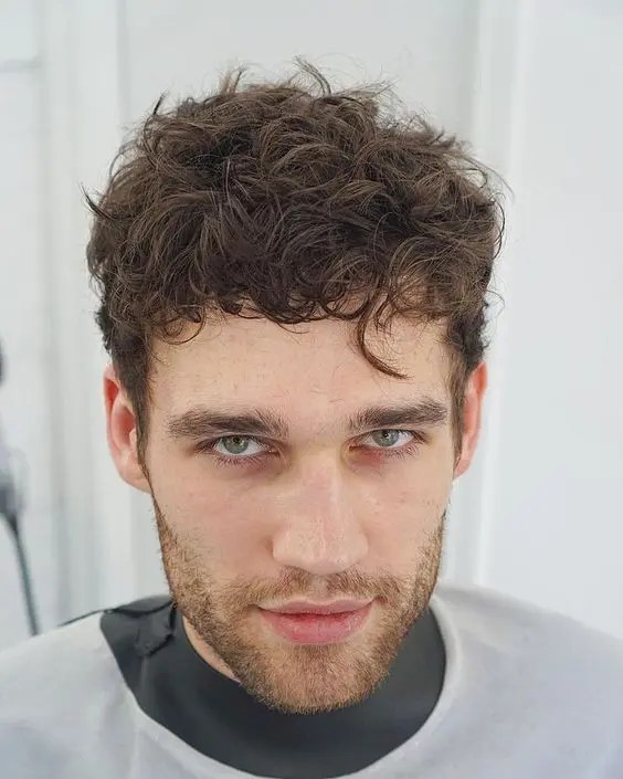 HAIRCUTS FOR MEN WITH CURLY HAIR short choppy curls