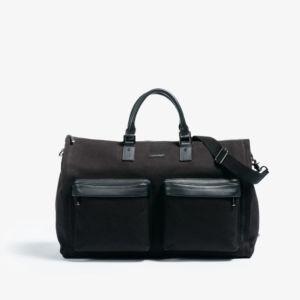 GARMENT WEEKENDER BAG IN BLACK BY HOOK & ALBERT