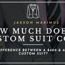 How much does a custom suit cost?