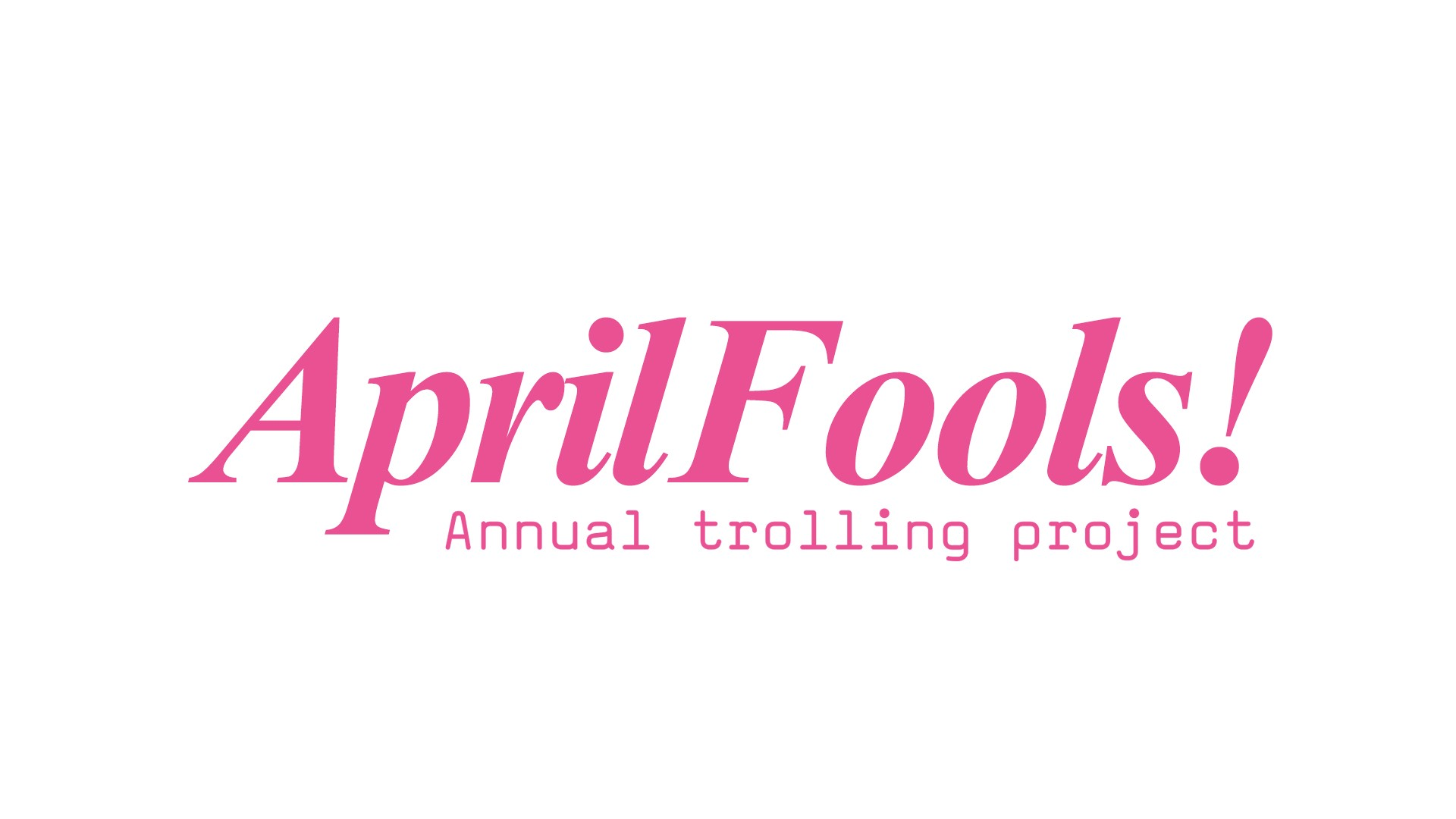 April's Here!