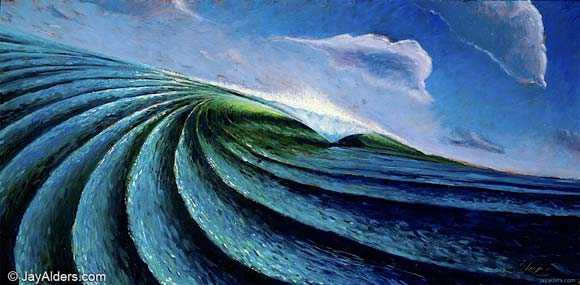 """Out of the Blue (Oil on Panel 12""""x24"""") © 2007 Alders<b><a href=""""http://shop.jayalders.com/Out-of-The-Blue_p_18.html"""" mce_href=""""http://shop.jayalders.com/Out-of-The-Blue_p_18.html"""" target=""""_blank"""">Buy Now</a></b>"""
