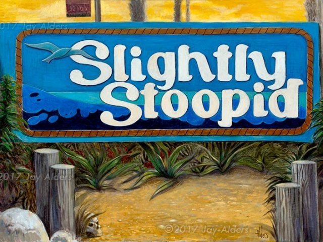 Slighty Stoopid - Ocean Beach Art by Alders