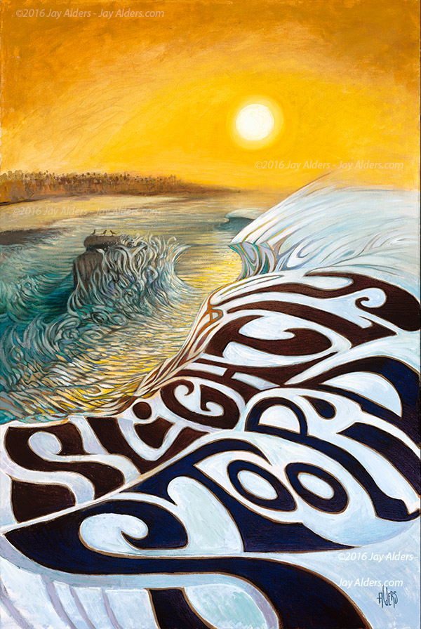 Slightly-Stoopid-ocean Cliffs Surf art by Jay Alders