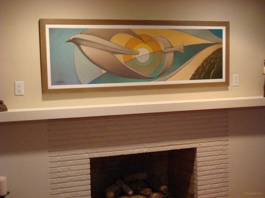 Love Birds framed art by Jay Alders