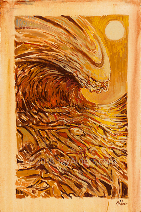 Lua Wave - surf wave painting