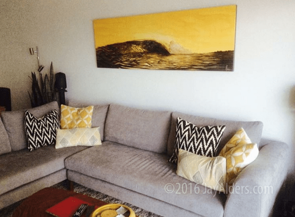 contemporary surf art on canvas by jay alders 18th and ocean