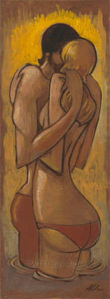 The Proposal - Couple embracing art