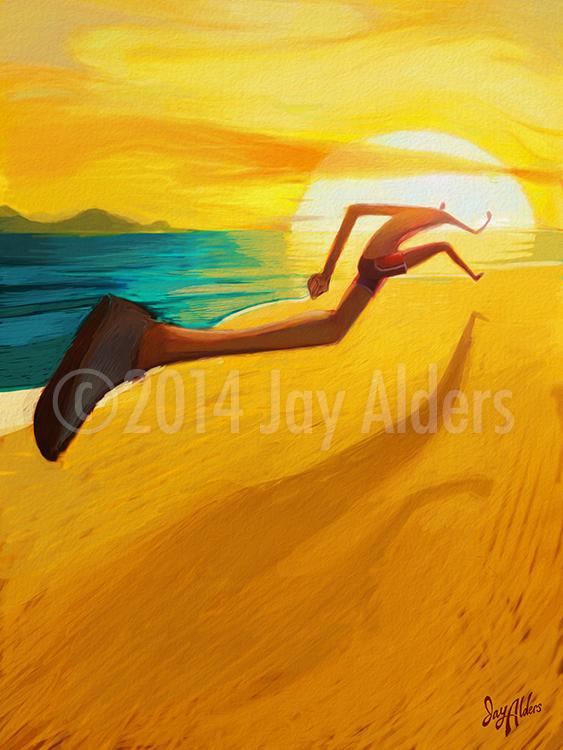 Beach Runner - Running Art