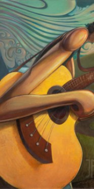 Bend in the Road - Guitar Art