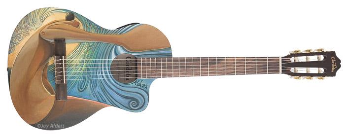 Cosmic Guitar - surf art guitar