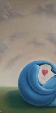 Depression of Love stylized art painting by Jay Alders