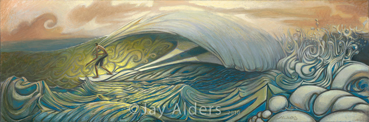 Home Slice Surfer Art painting