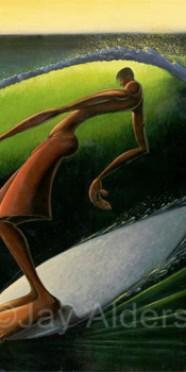 Solitube surfer hang ten art