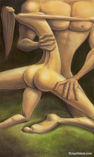 The Embrace - couple painting