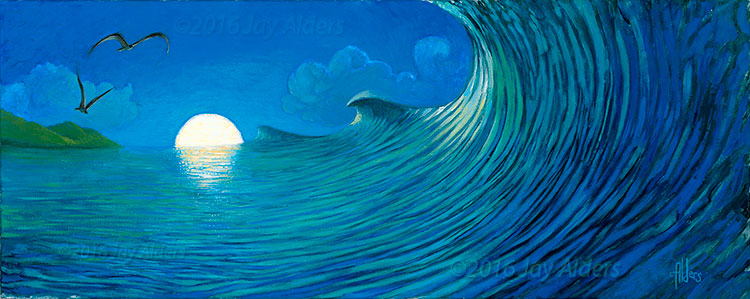 Bali Triple Set - Indonesia Surf Art by Jay Alders