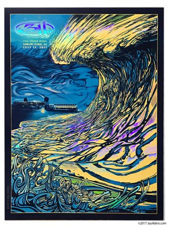 311 Band Tour Poster- July 2017 Asbury Park Show by Jay Alders - Rainbow Foil Print