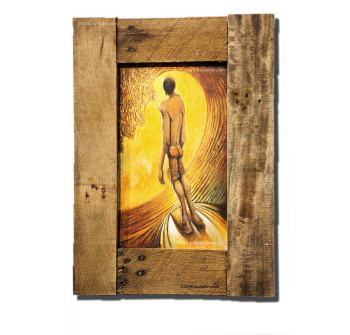 Golden Opportunity contemporary surfer artwork by Jay Alders