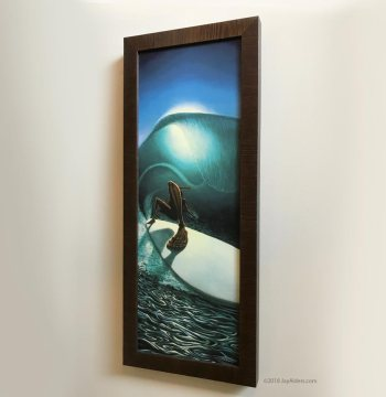 right past the light surf art canvas print in frame by jay alders