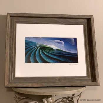Ocean wave contemporary painting in framed art print