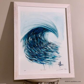 Wave of Blues - contemporary wave ocean art print