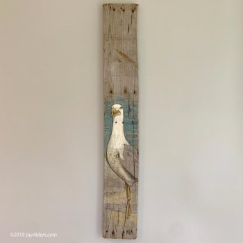 Seagull art painting by Jay Alders