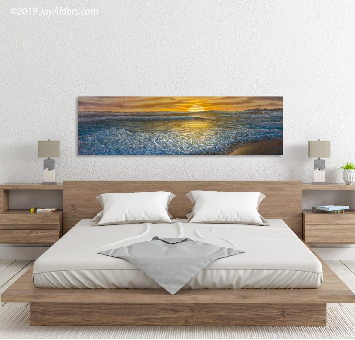 Fall Swell At The Inlet - Contemporary Surf Ocean Print of Manasquan NJ