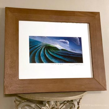 Out of the Blue - Oceanscape wave art in frame by surfer artist Jay Alders