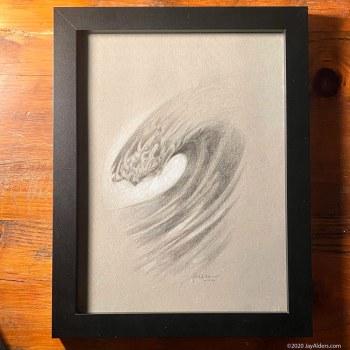 modern ocean surf inspired art drawing by Alders