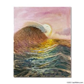 Impasto modern surf art painting -The Sea 20210127