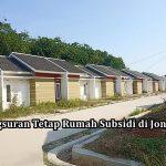 Angsuran Tetap Rumah Subsidi di Jonggol