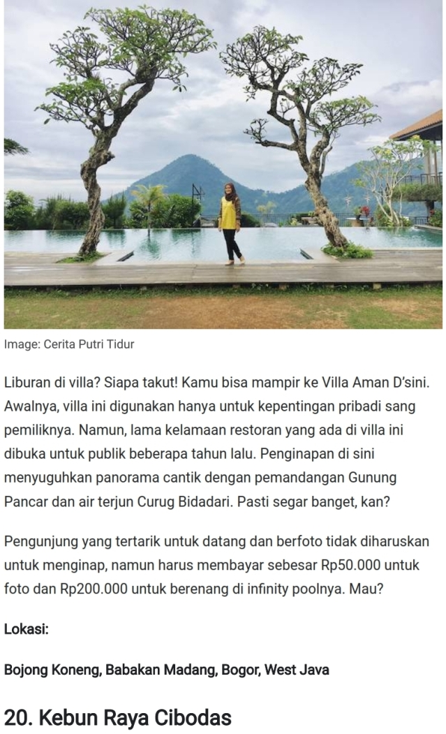 Tempat Wisata Cileungsi Jonggol Bogor