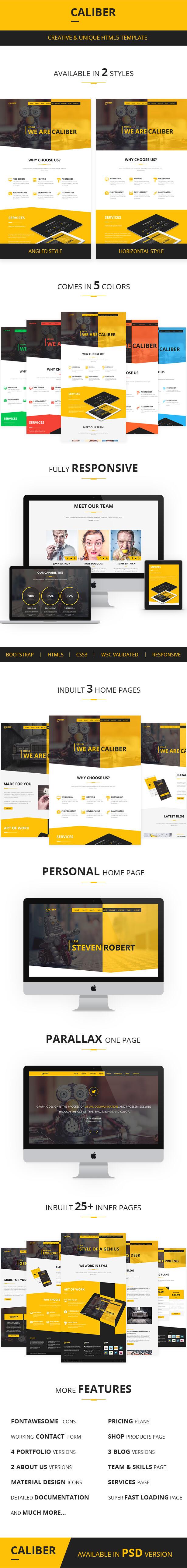Caliber - Creative Multi Purpose HTML Template - 1