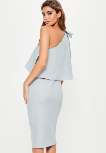 grey-crepe-one-shoulder-bow-sleeve-midi-dress-2