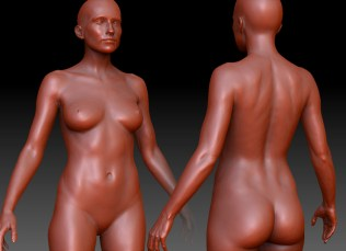 Female base detailed and set though I think she needs to be more curvy.