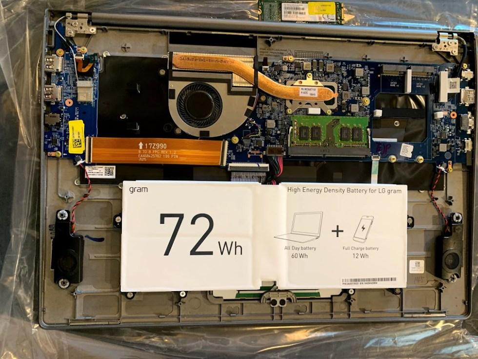 LG GRAM 17 Internal Components